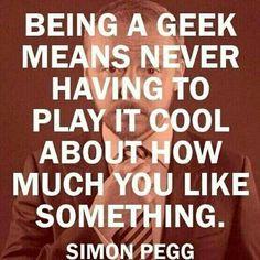 Loud and proud geek