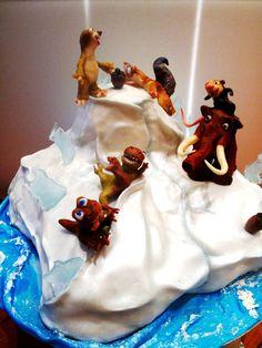"Children's Birthday Cakes - ""The Ice Age"" cartoon theme birthday cake - Birthday Cake Vanilla Ideen Cartoon Birthday Cake, Adult Birthday Cakes, Fondant Cakes, Cupcake Cakes, Cake Cookies, Cupcakes, Betty Boop, Ice Age Birthday Party, Ice Age Cake"