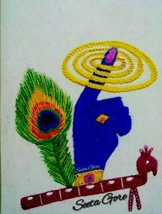 Beautiful Rangoli Designs For Krishna Janmashtami - ArtsyCraftsyDad Source by Easy Rangoli Designs Diwali, Indian Rangoli Designs, Simple Rangoli Designs Images, Rangoli Designs Latest, Rangoli Designs Flower, Free Hand Rangoli Design, Rangoli Border Designs, Small Rangoli Design, Rangoli Patterns
