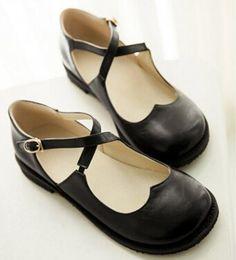 new arrival d4f64 e133f 19.73 50% de DESCUENTO Aliexpress.com  Comprar Nuevo estilo Vintage punta  redonda Mary Jane zapatos planos para mujer Zapatos de tacón bajo dulce  muñeca ...