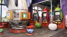 Out of this world games room for kids designed for a dental office by Imagination Dental Solutions! - imaginationdental.com