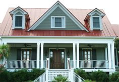 red roof and grey siding - Recherche Google