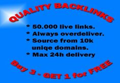 create 50.000+ Instant Verified Absolute Quality BACKLINKS f... for $5