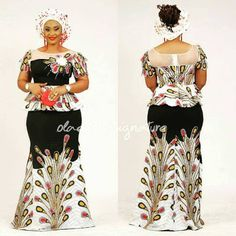 2020 Elegant and Lovely Ankara Skirt and Blouse Styles For Ladies Latest African Fashion Dresses, African Dresses For Women, African Print Fashion, African Attire, African Wear, Women's Fashion Dresses, African Lace, Lace Gown Styles, Ankara Gown Styles