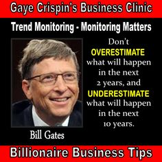 Gaye Crispin's Business Clinic - Trend Monitoring - Monitoring Matters - Gaye Crispin