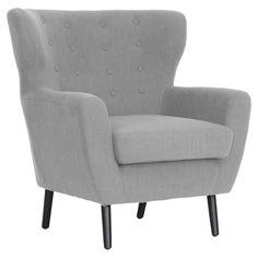Chic grey club chair