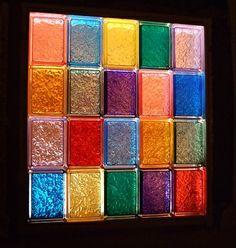 Gl Block Window In Color Windows Blocks Corning