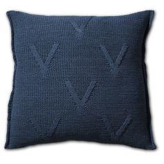 Pillow 50x50 - Aran AZ jeans by Knit Factory www.knitfactory.nl