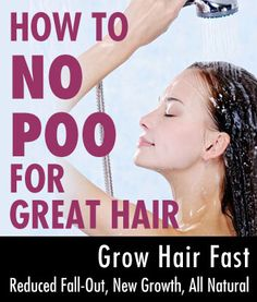 I have been washing my hair without shampoo (No Poo) for almost 2 years. It makes your hair grow super fast, you only have to wash every 4 days (seriously), and hair is soft, shiny, and managable - oh yeah, and no more fall-out!