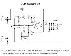 guitar effects schematics projects electronic schematics dod guitar distortion schematic