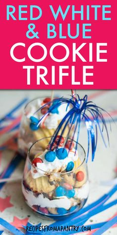 This Easy Red White and Blue Trifle is the perfect patriotic treat for your holiday celebration! This fun and festive no-bake dessert is just the thing for bringing to BBQs, potlucks, and picnics. 4th of July dessert is a super easy make-ahead recipe that you can whip up with just a handful of pre-made ingredients. Click through to get this awesome patriotic trifle recipe!! #redwhiteandbluetrifle #4thofJulytrifle #trifle #fourthofjuly #july4th #july4threcipes #redwhiteandblue #dessert 4th Of July Desserts, Holiday Desserts, No Bake Desserts, Easy Desserts, Delicious Desserts, Easy Potluck Recipes, Snack Recipes, Dessert Recipes, Summer Recipes