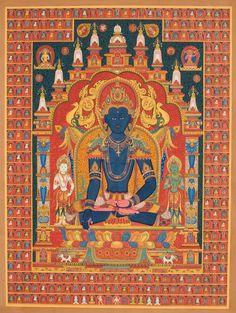 Nepali paubha with bodhisattva Akshobya