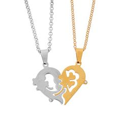 MJARTORIA 2 Tone Couple Open Heart Lucky Clover Stainless Steel Pendant Love Necklace Set for Him and Her MJartoria http://www.amazon.com/dp/B015O50L4A/ref=cm_sw_r_pi_dp_QErawb0TG0KDH