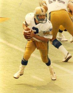 Former Winnipeg Blue Bomber quarterback Tom Clements. Seasons 1983-87. Two time Grey Cup champion: 1976 (Ottawa Rough Riders) & Winnipeg (1984).