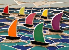 Felicity Ball mosaics: Time out in Dartmouth, UK
