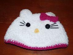 Crochet Hello Kitty Hat Pattern for adults