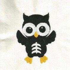 Free Embroidery Design: Skeleton Owl