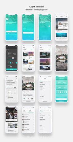 I love the the visual consistency that is present in these desgins Web Design, App Ui Design, Flat Design, Mobile Application Design, Mobile Ui Design, Interface Web, Interface Design, Android App Design, App Design Inspiration
