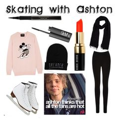 """""""Skating (ice) with Ashton Irwin"""" by ashleyxoxyoutube13 ❤ liked on Polyvore featuring Oasis, Markus Lupfer, Blue Les Copains, Bobbi Brown Cosmetics, Elizabeth Arden and NARS Cosmetics"""