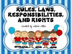 A common core close reading unit that targets reading and writing standards around the social studies concepts of citizenship: rules, rights, laws, and responsibilities. I open my year with this unit because it addresses all three text types: informative, opinion, and narrative texts.