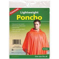 Coghlan's 9267 Poncho, Orange, Size: One Size Fits  Most