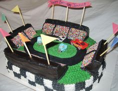 Cars Themed Race Track Cake  Flickr Photo Sharing