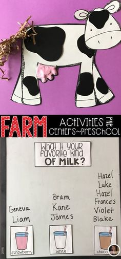 Farm Activities were created with preschool in mind. This unit would also work well in a kindergarten classroom. The boys and girls will learn important math, literacy and book comprehension concepts, strategies and skills through book/fact centered lesso Farm Animals Preschool, Preschool Themes, Kindergarten Classroom, Math Literacy, Preschool Farm Crafts, Preschool Food, Farm Lessons, Farm Unit, Farm Activities