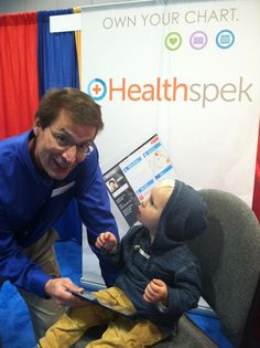 It's never too early to start using Healthspek! With features so easy to use, even a 2 year old can do it!  Great times being had at the WSMV Healthy4Life expo! Remember, just because you missed us on Saturday doesn't mean you've missed the opportunity forever! You can still see us, as well as all the other exhibitors, until tonight (October 20, 2013) at 5:00 PM!  -personal health record.