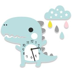 It's time to shop the most decorative nursery desk and wall clocks. Analog or digital the topmost beautiful Nordic accessory for every room. Baby Room Decor, Diy Wall Decor, Plywood Furniture, Kids Furniture, Wall Watch, Diy Clock, Diy Wall Clocks, Cartoon Dinosaur, Cartoon Wall