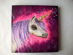 The magic of the unicorn - original painting by Micki Wilde