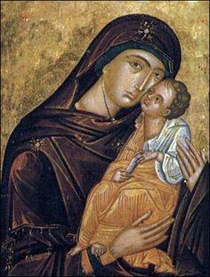 Icons of Mt. Sinai.  The Theotokos with Child icon, St Catherine's Monastery.