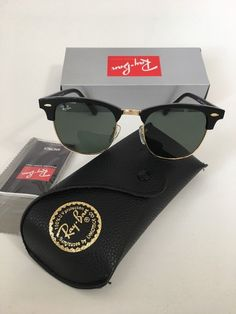 7ffdf7fc5a Details about Ray-Ban Sunglasses Clubmaster Unisex Black Gold Frame G15  Lens RB3016 W0365 51mm