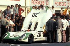 Seppi Le Mans 1969 - attente au stand - Porsche 908