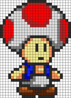 Game art 71705819050190373 - retro-gaming-champignon-super-mario-bros-geek-perles-hama-repasser Source by Pixel Art Toad, Pixel Art Mario, Kandi Patterns, Perler Patterns, Beading Patterns, Perler Bead Mario, Perler Beads, Beaded Cross Stitch, Cross Stitch Patterns