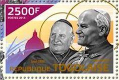 2014 República de Togo - Canonización de Juan Pablo II y Juan XXIII