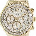Women's watches: Where to buy  GUESS Women's W15052L1 Signature Goldtone Stainless Steel Goldtone Dial Watch