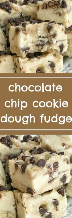 A sweet & creamy fudge that tastes exactly like chocolate chip cookie dough! No eggs so it's perfectly safe to eat. If you're looking for an extra sweet treat this Holiday and Christmas season then you have to try this chocolate chip cookie dough fudge #r