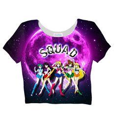 Sailor Squad Crop Top – Shelfies - Outrageous Clothing