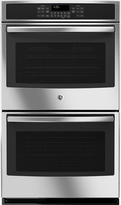 GE - Built-In Double Electric Convection Wall Oven - Stainless steel - Front_Zoom