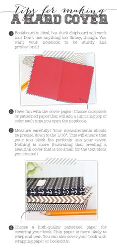 Bookbinding University: How to Make a Hardcover | Damask Love Blog -  includes a video-tutorial