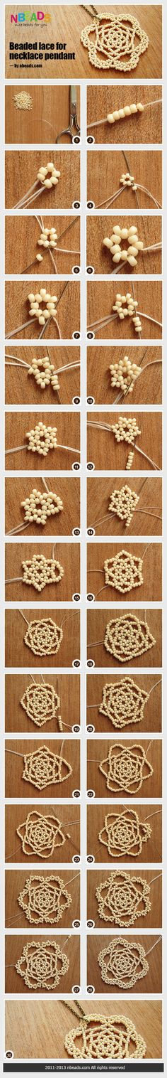 Summary: Have you made lace crafts before? They could be the stylish and creative which are made of different materials. Make one to go with your jewelry, you can't miss this beaded lace. Tiny seed beads achieves this fabulous jewelry pendant in an easy w
