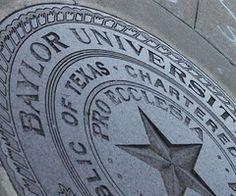 """Baylor seal.  """"Pro Ecclesia.  Pro Texana.""""  For Church.  For Texas."""