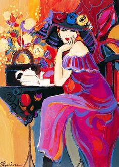 Атмосфера парижских кафе... Художник Айзек Мэймон | art gallery TABOO | btsov.ru