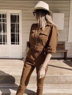 Brown Outfit, Slim Fit Trousers, Illusions, Breast, Jumpsuit, Hipster, Golden Hour, Ministry, How To Wear
