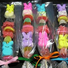 Easter Candy Kabob Easter Drink, Easter Peeps, Easter Candy, Easter Snacks, Easter Verses, Easter Scriptures, Easter Gifts For Kids, Easter Crafts, Candy Kabobs