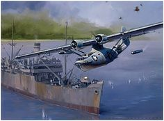 """The Terror of Tassaforonga Point by Jack Fellows 15th October, 1942. Major """"Mad Jack"""" Cram is seen the moment he released the first of two ..."""