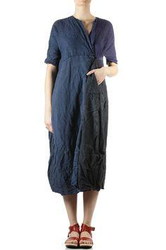 DANIELA GREGIS - Four Linen Panels Wide Dress :: Ivo Milan