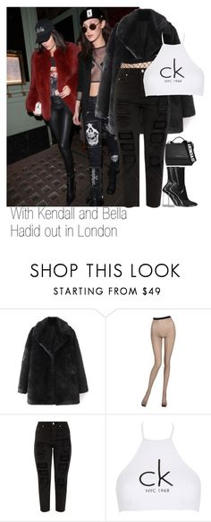 """With Kendall and Bella Hadid out in London (February 19)"" by kylizie ❤ liked on Polyvore featuring La Perla, Calvin Klein, Givenchy, life, kendalljenner and bellahadid"