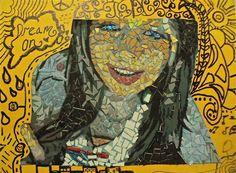 Mosaic awesomeness. High school envy.