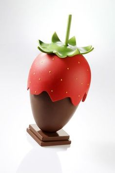 Strawberry created from chocolate: